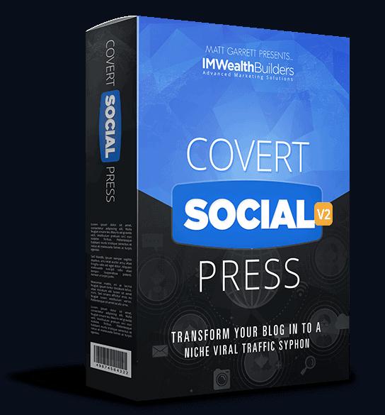 Covert Social Press V2 + OTOs